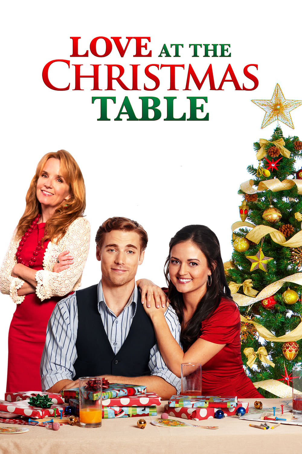 """Poster for the movie """"Love at the Christmas Table"""""""
