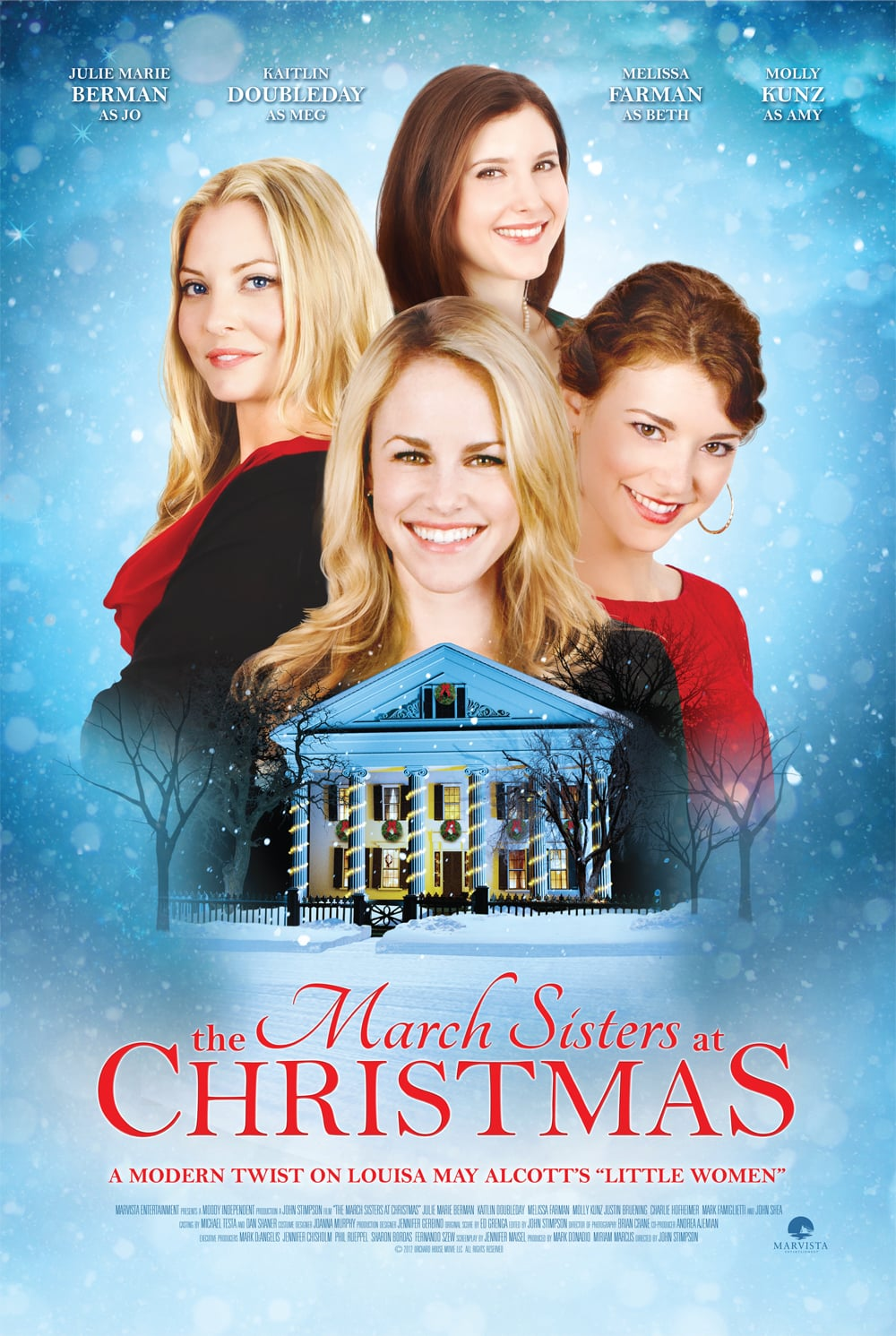 "Poster for the movie ""The March Sisters at Christmas"""