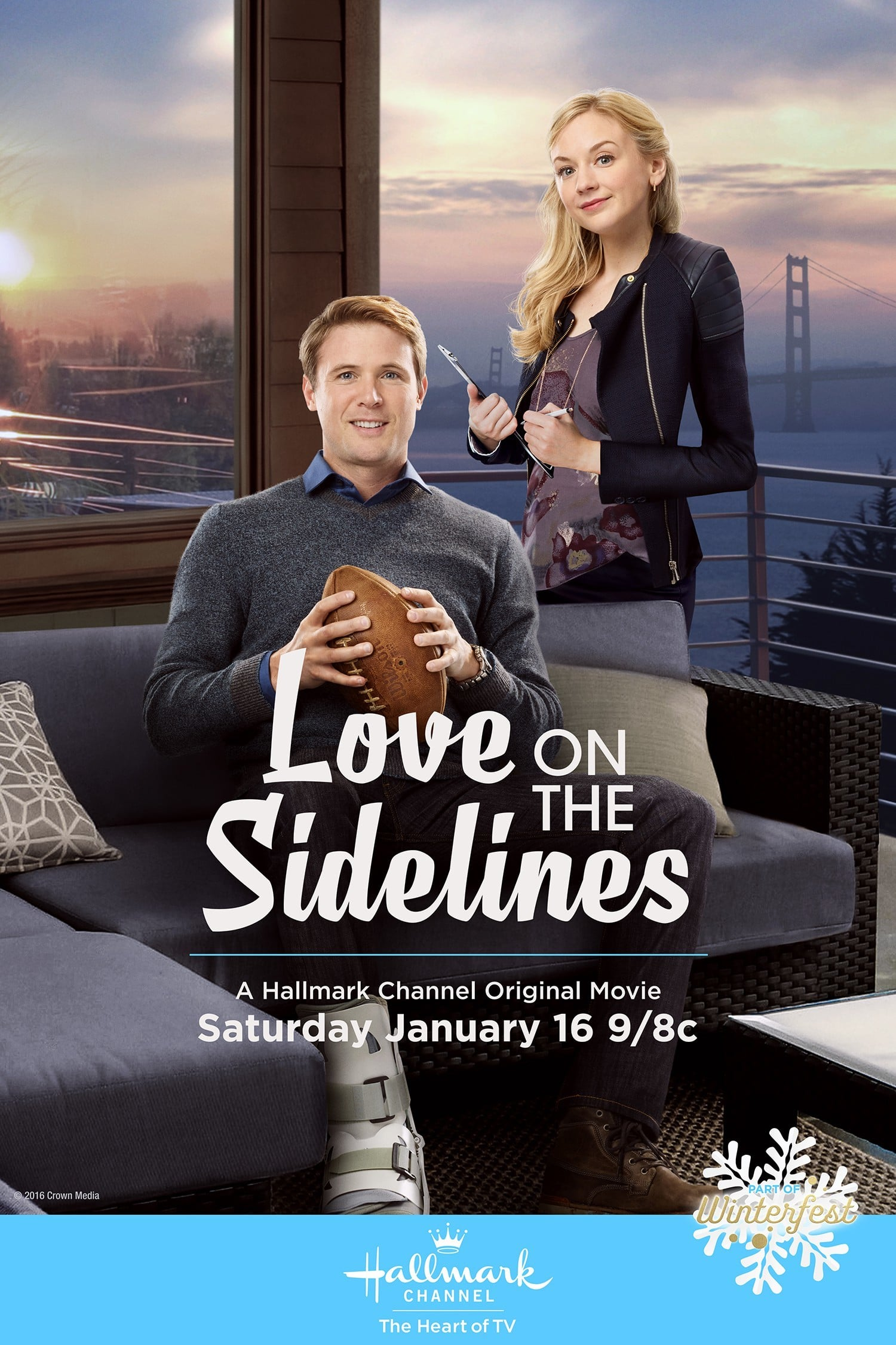"""Poster for the movie """"Love on the Sidelines"""""""