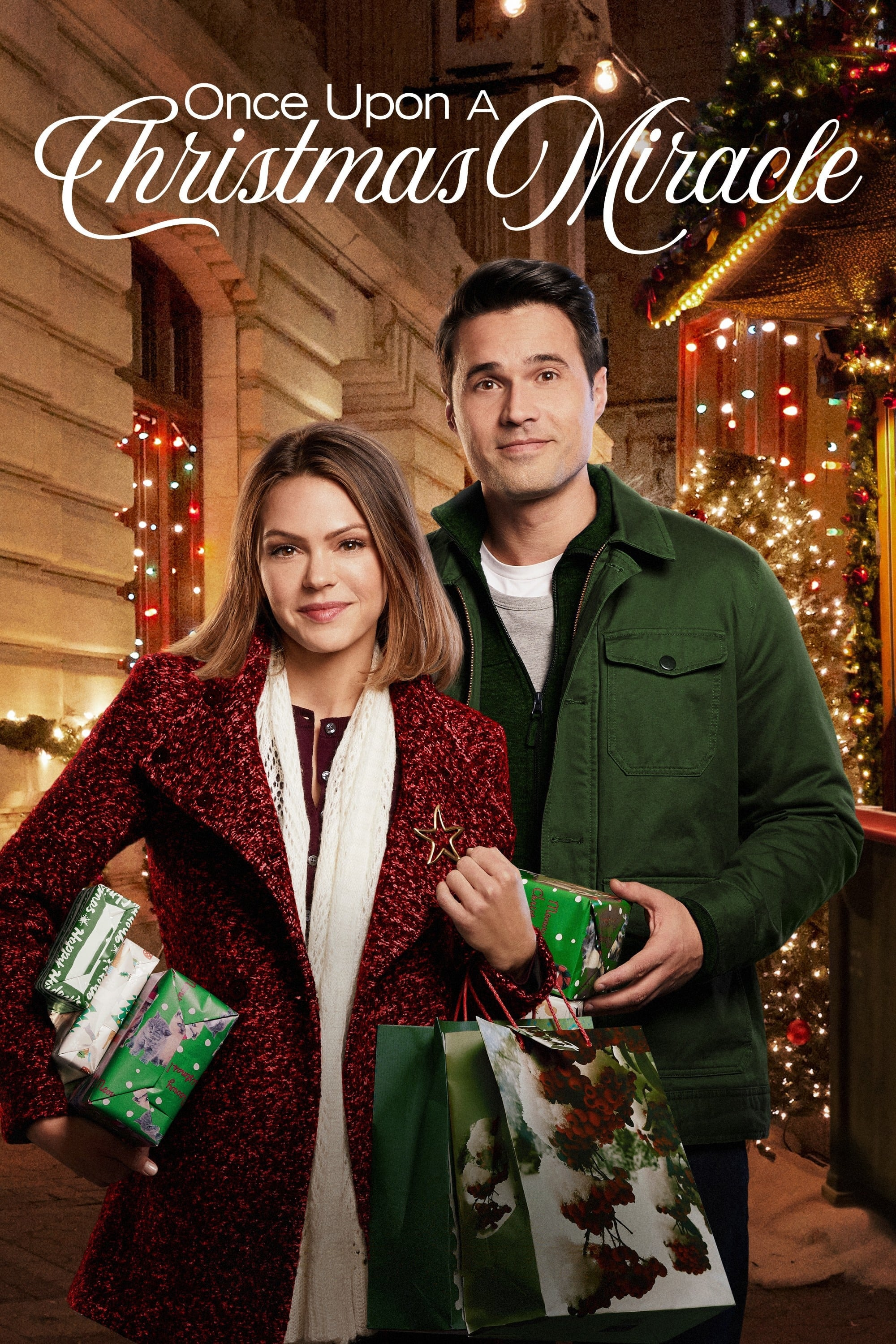 "Poster for the movie ""Once Upon a Christmas Miracle"""
