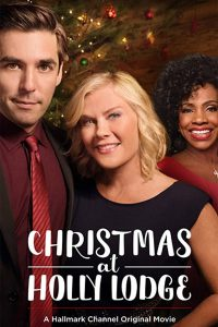 """Poster for the movie """"Christmas at Holly Lodge"""""""