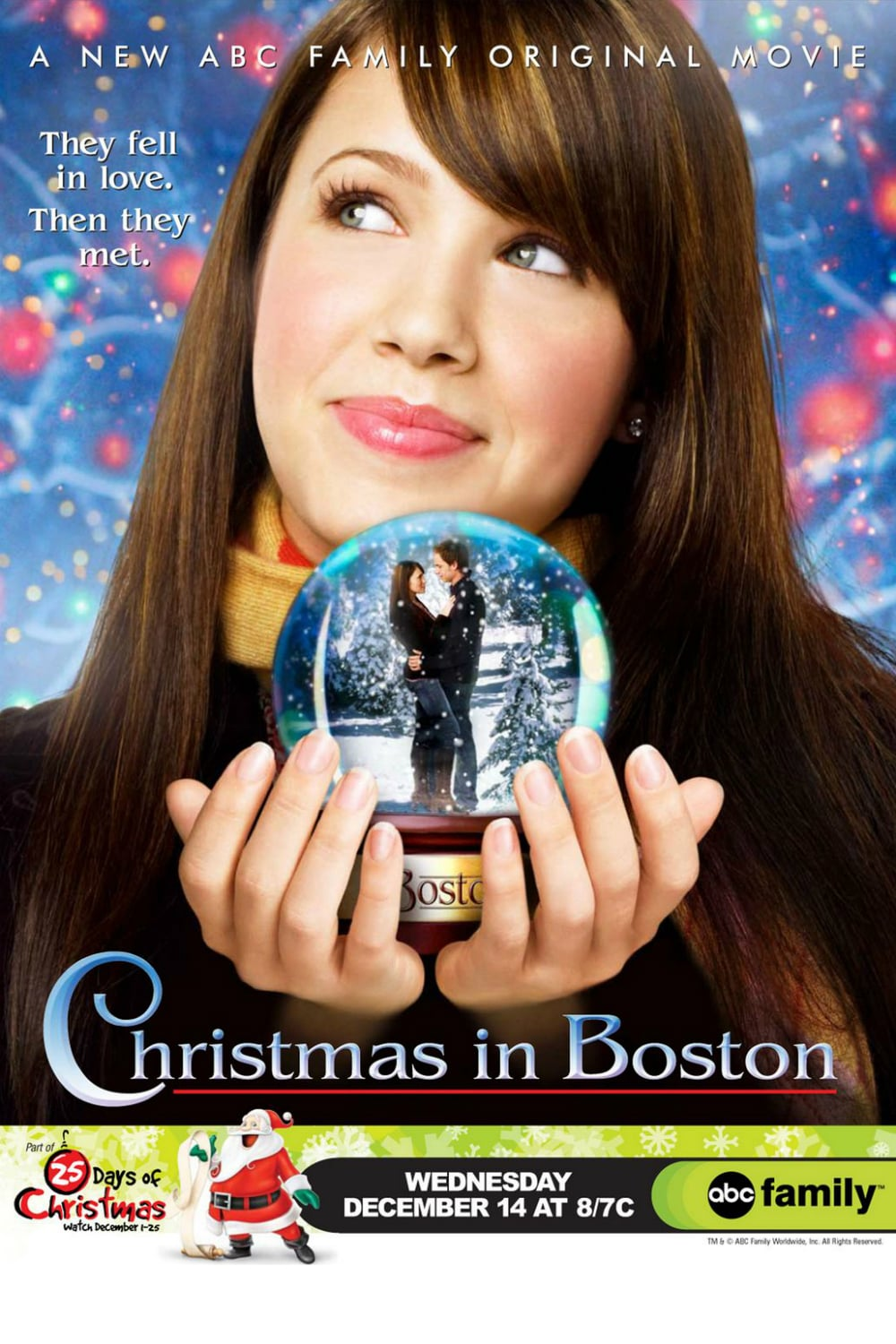 "Poster for the movie ""Christmas in Boston"""
