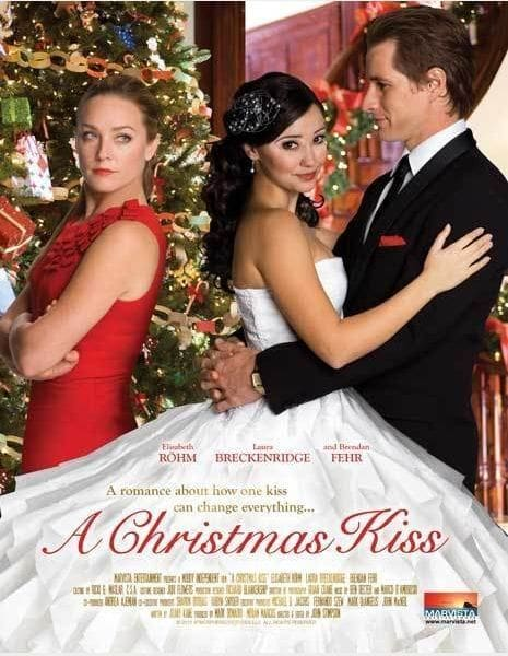 "Poster for the movie ""A Christmas Kiss"""