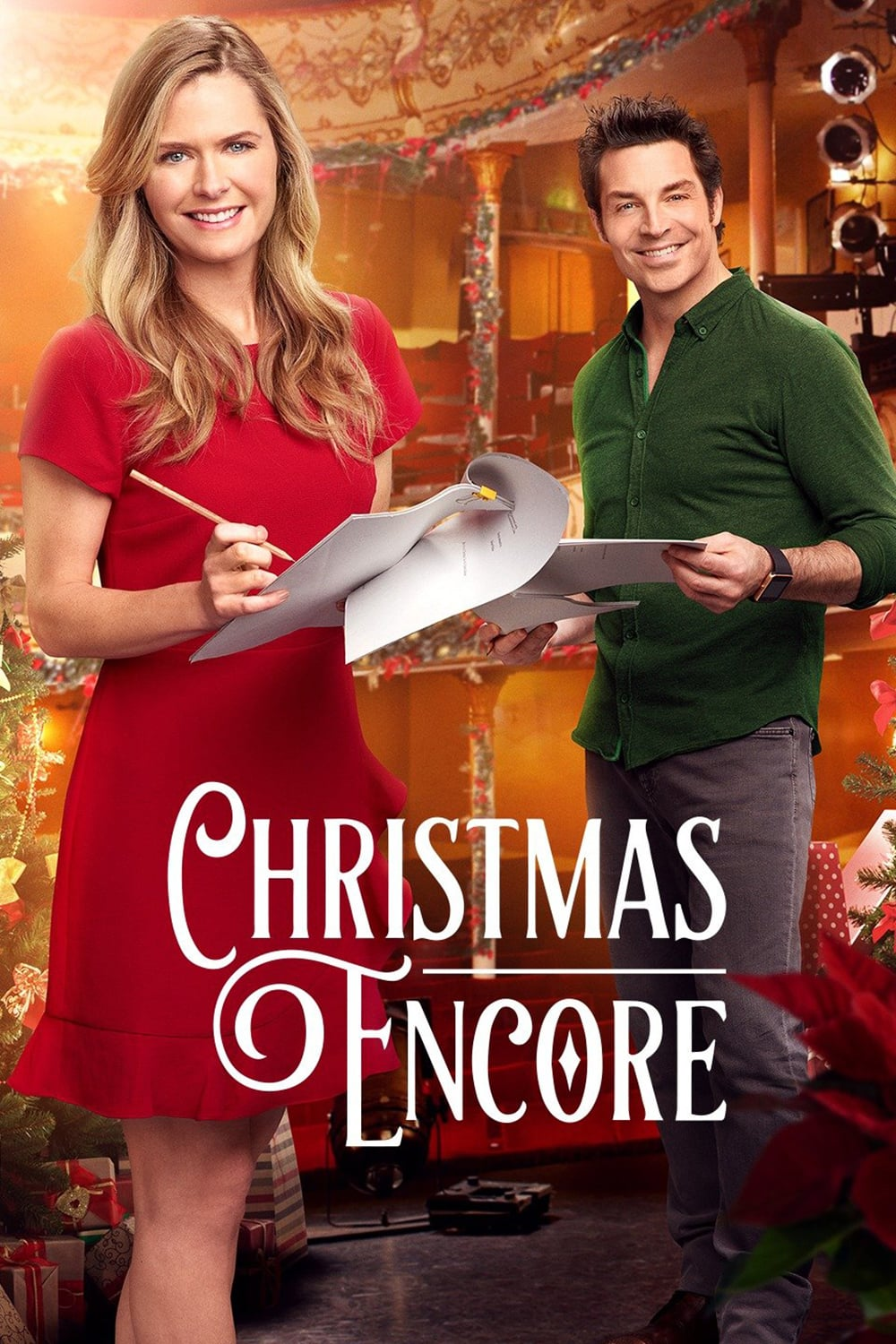 "Poster for the movie ""Christmas Encore"""