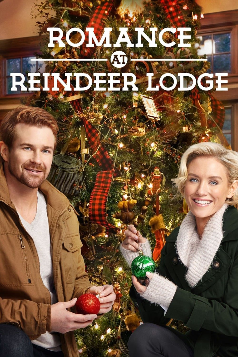"Poster for the movie ""Romance at Reindeer Lodge"""