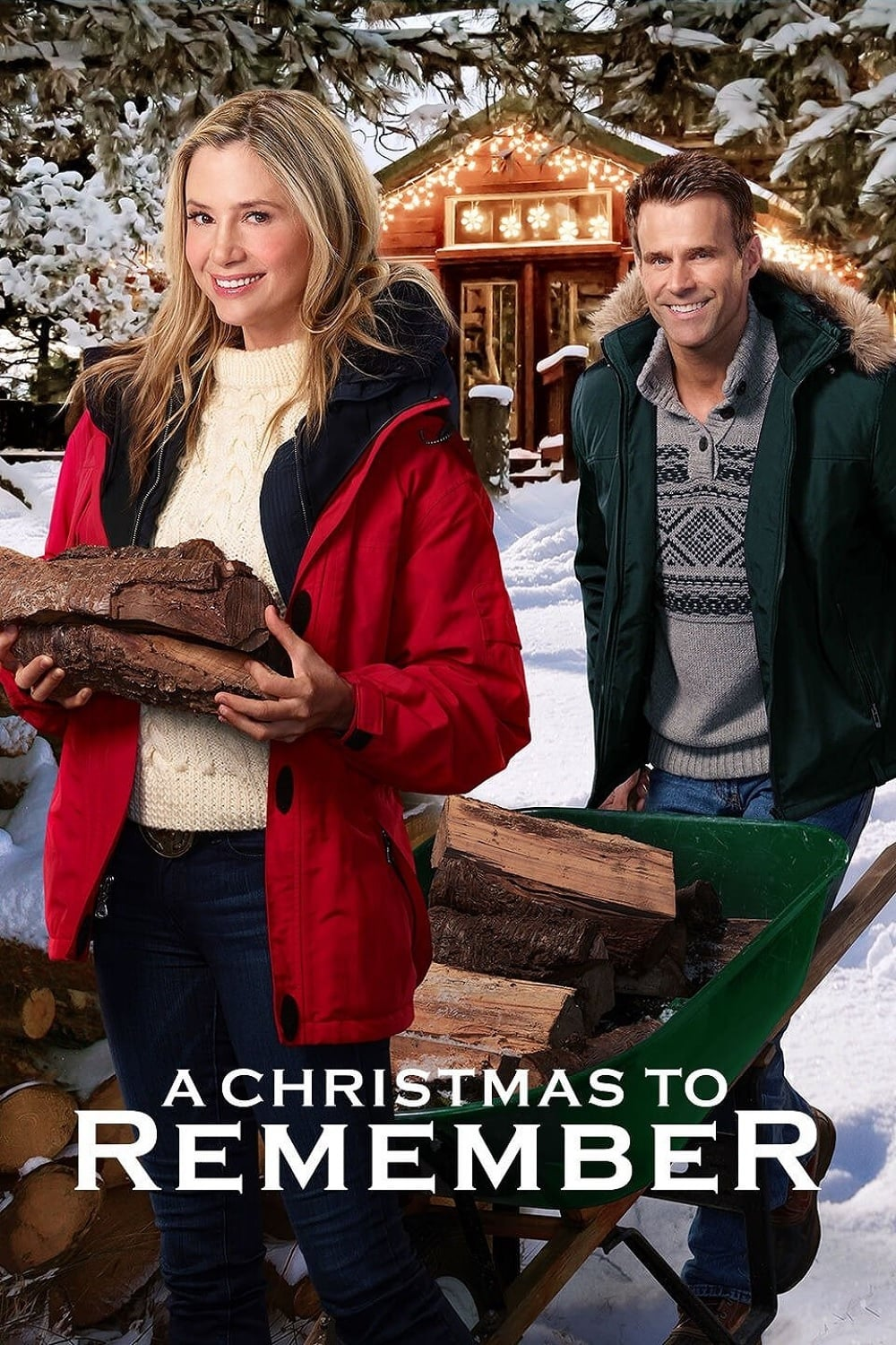 """Poster for the movie """"A Christmas to Remember"""""""