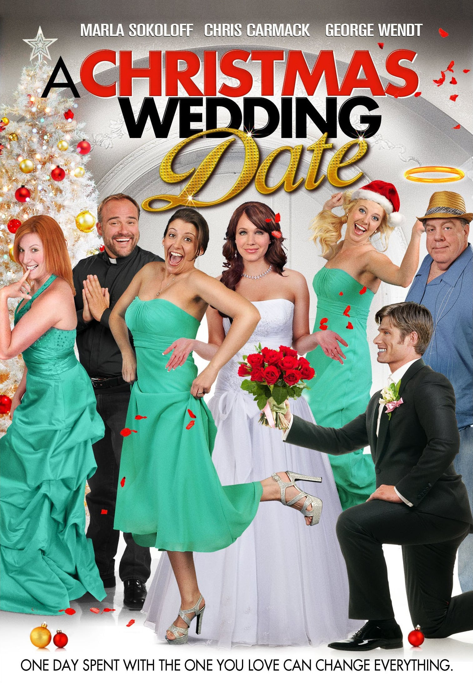 "Poster for the movie ""A Christmas Wedding Date"""