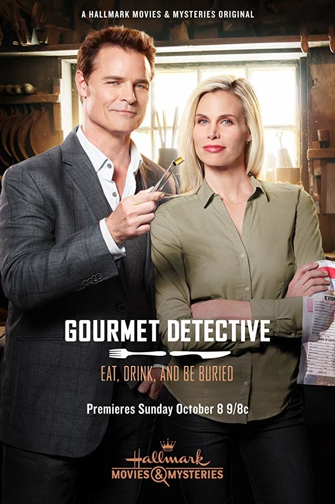 """Poster for the movie """"Gourmet Detective: Eat, Drink and Be Buried"""""""