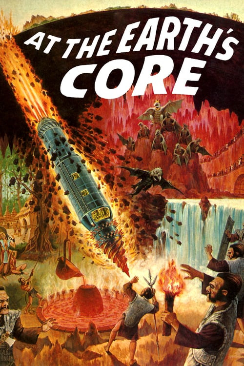 """Poster for the movie """"At the Earth's Core"""""""