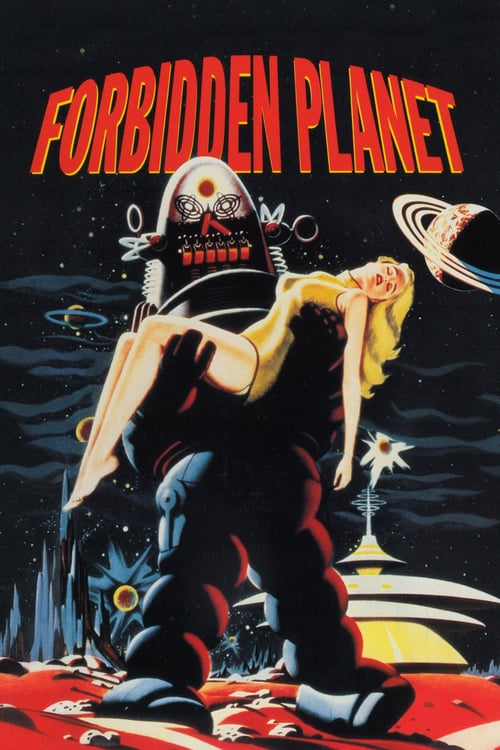 "Poster for the movie ""Forbidden Planet"""
