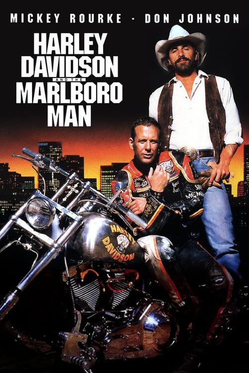 """Poster for the movie """"Harley Davidson and the Marlboro Man"""""""