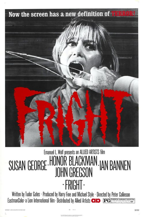 "Poster for the movie ""Fright"""